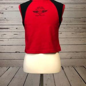 Harley-Davidson Tops - ☀️ Harley Davidson Motorcycles Medium Crop Top Red